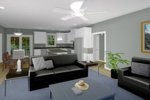 Architectural House Design - Cottage Interior - Family Room Plan #44-246