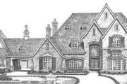 European Style House Plan - 5 Beds 5.5 Baths 6249 Sq/Ft Plan #310-353 Exterior - Front Elevation