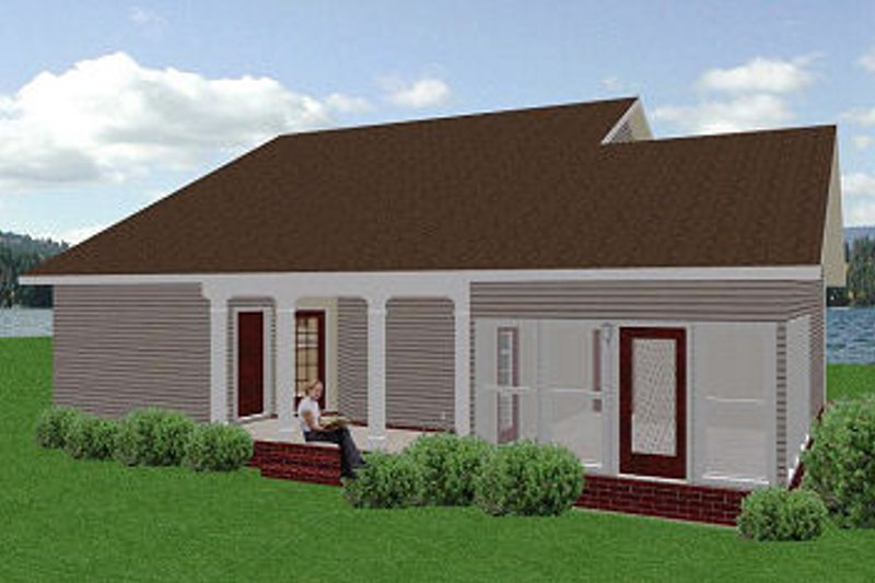 Traditional Exterior - Rear Elevation Plan #44-150 - Houseplans.com