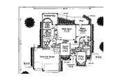 Colonial Style House Plan - 4 Beds 3.5 Baths 2616 Sq/Ft Plan #310-726 Floor Plan - Main Floor