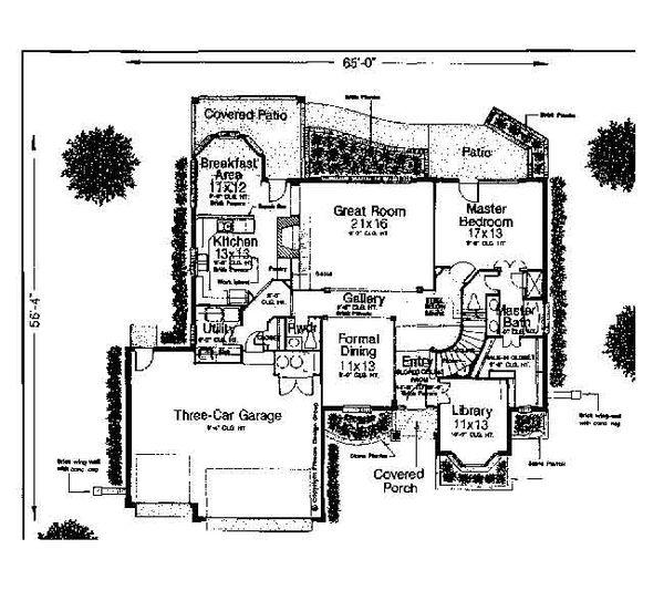 Colonial Floor Plan - Main Floor Plan #310-726