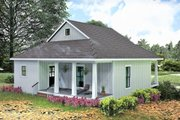 Farmhouse Style House Plan - 2 Beds 1 Baths 890 Sq/Ft Plan #44-222 Exterior - Other Elevation