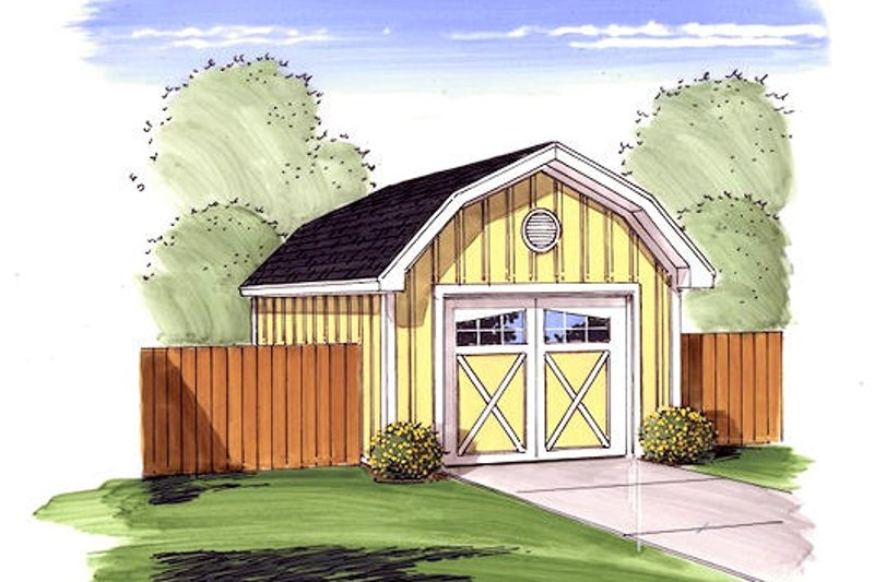 Country Exterior - Front Elevation Plan #455-69