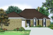 Traditional Style House Plan - 3 Beds 2 Baths 2085 Sq/Ft Plan #45-312 Exterior - Front Elevation