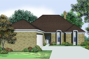 Traditional Exterior - Front Elevation Plan #45-312