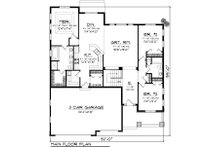 Traditional Floor Plan - Main Floor Plan Plan #70-1081