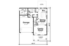 Craftsman Floor Plan - Main Floor Plan Plan #20-2325