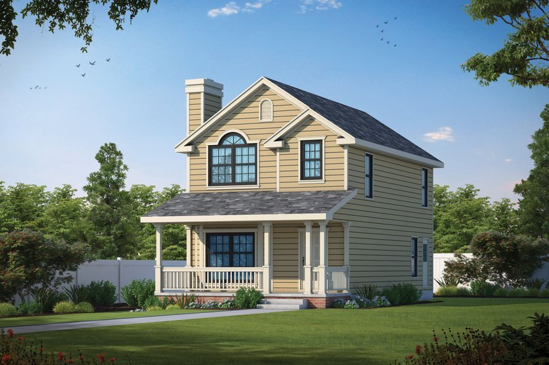 Home Plan - Victorian Exterior - Front Elevation Plan #20-2469