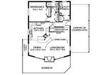 Cottage Floor Plan - Main Floor Plan Plan #126-217