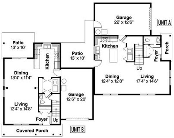 Floor Plan - Main Floor Plan Plan #124-815