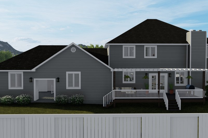 Architectural House Design - Traditional Exterior - Rear Elevation Plan #1060-8