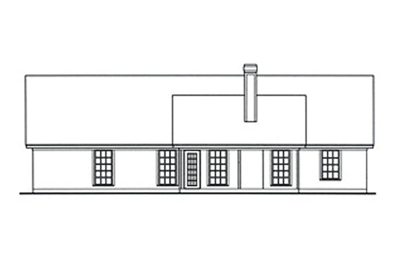 Cottage Exterior - Rear Elevation Plan #42-397 - Houseplans.com