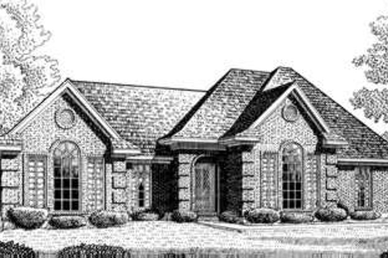 European Exterior - Front Elevation Plan #410-302
