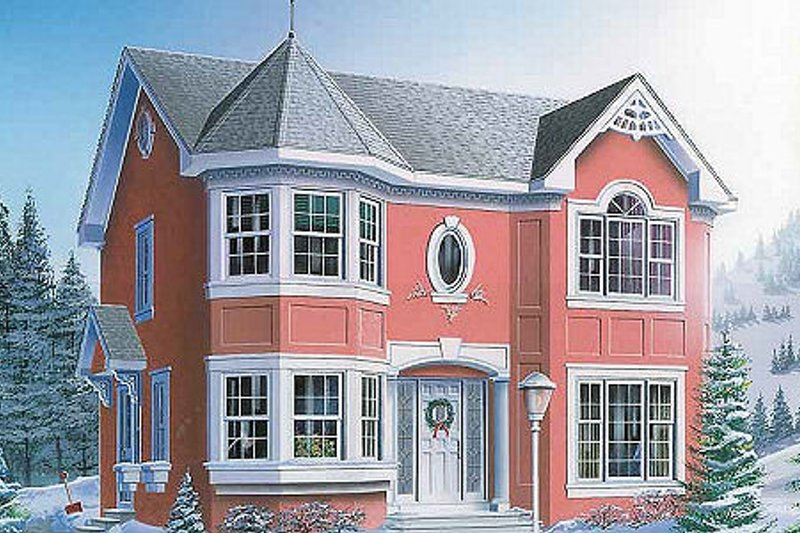 European Exterior - Front Elevation Plan #23-600 - Houseplans.com