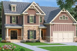 Traditional Exterior - Front Elevation Plan #419-200