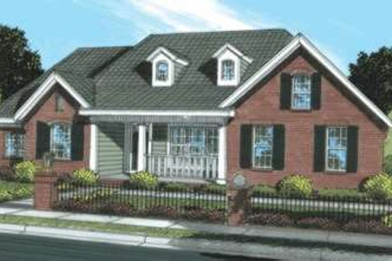 Home Plan - Traditional Exterior - Front Elevation Plan #20-1874