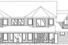 Dream House Plan - Traditional Exterior - Rear Elevation Plan #117-346