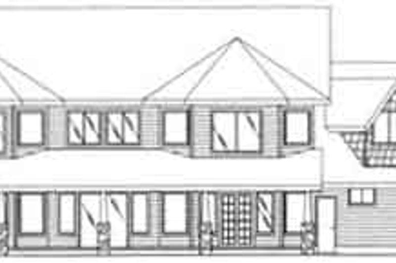 Traditional Exterior - Rear Elevation Plan #117-346 - Houseplans.com