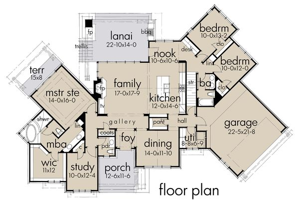 Country Floor Plan - Main Floor Plan Plan #120-192