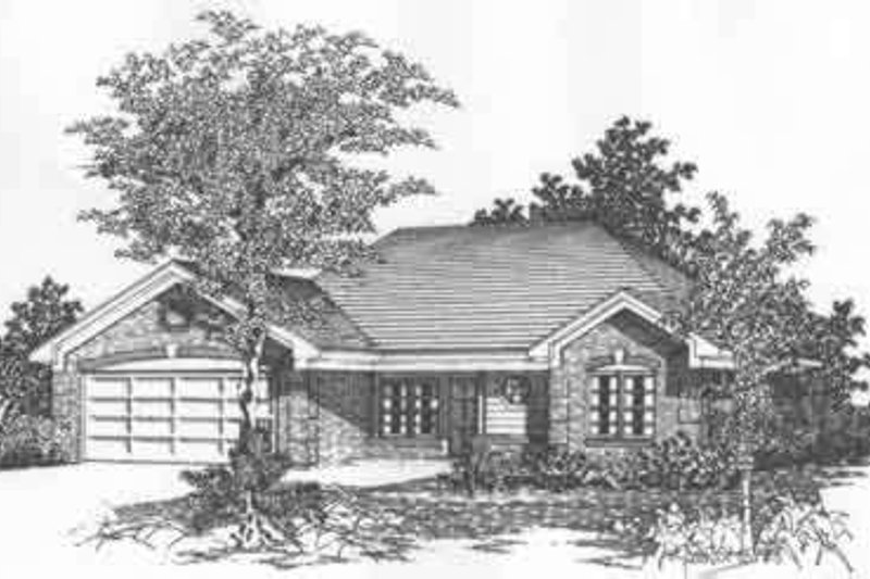 Traditional Style House Plan - 4 Beds 2 Baths 1431 Sq/Ft Plan #329-141 Exterior - Front Elevation