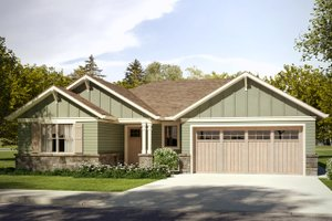 Craftsman Exterior - Front Elevation Plan #124-1030