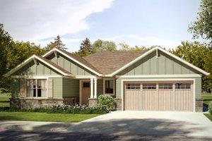 Craftsman Exterior - Front Elevation Plan #124-1030