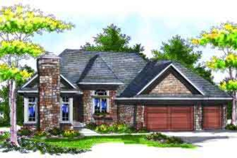 Dream House Plan - European Exterior - Front Elevation Plan #70-707