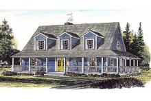 House Plan Design - Country Exterior - Front Elevation Plan #315-104
