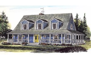 Country Exterior - Front Elevation Plan #315-104