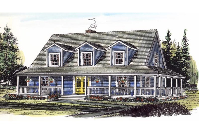 Country Exterior - Front Elevation Plan #315-104 - Houseplans.com