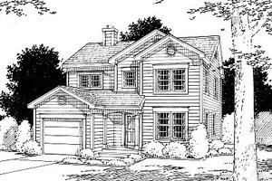 Traditional Exterior - Front Elevation Plan #12-204