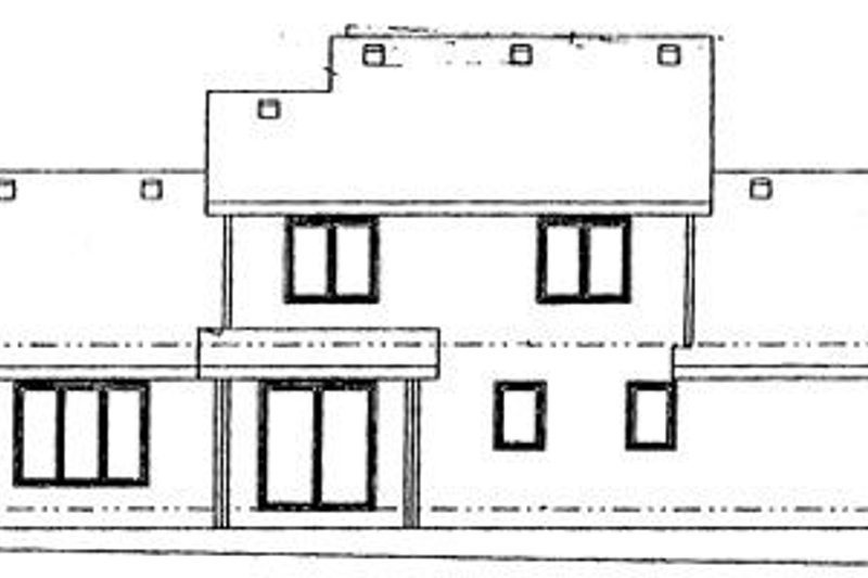 Traditional Exterior - Rear Elevation Plan #20-737 - Houseplans.com