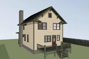 Traditional Style House Plan - 3 Beds 2.5 Baths 1648 Sq/Ft Plan #79-268 Exterior - Rear Elevation