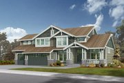 Craftsman Style House Plan - 3 Beds 2.5 Baths 2920 Sq/Ft Plan #132-135 Exterior - Front Elevation
