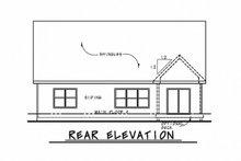 Cottage Exterior - Rear Elevation Plan #20-2315