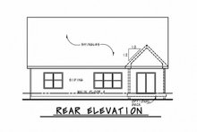 Home Plan - Cottage Exterior - Rear Elevation Plan #20-2315