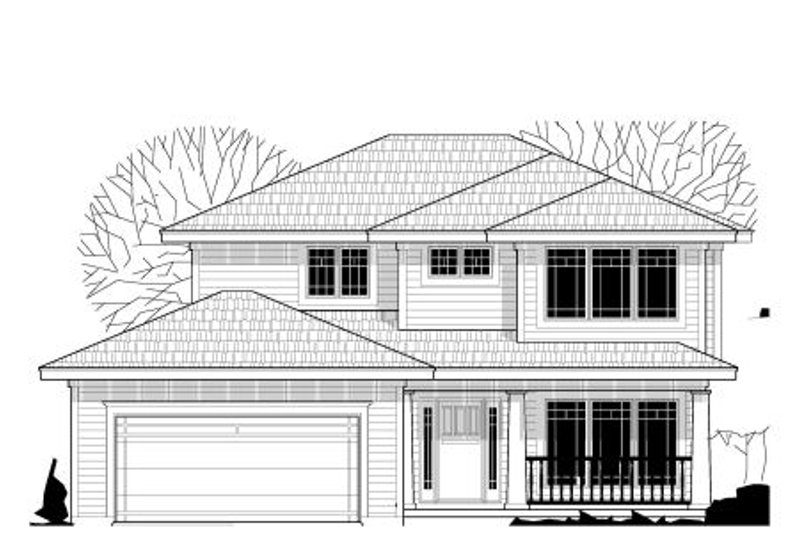Traditional Style House Plan - 3 Beds 2.5 Baths 1618 Sq/Ft Plan #67-870 Exterior - Front Elevation