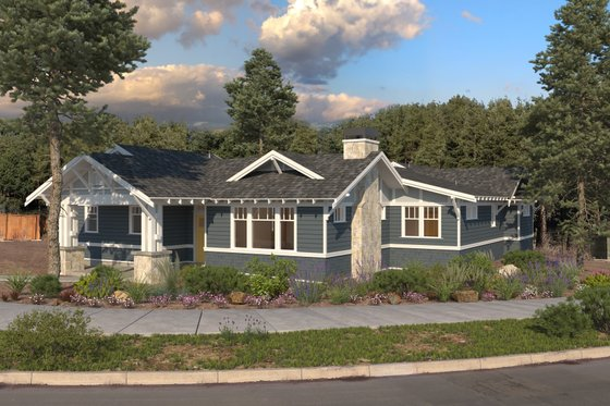 Craftsman Exterior - Front Elevation Plan #895-122