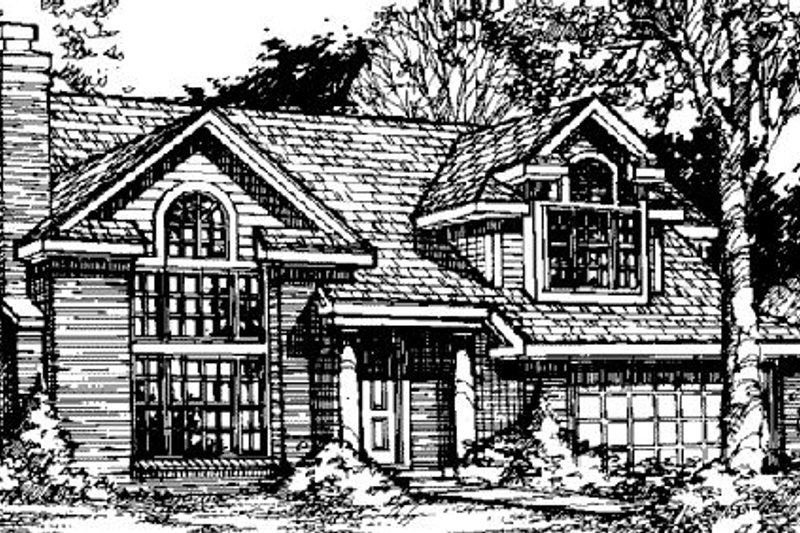 Traditional Exterior - Front Elevation Plan #320-381
