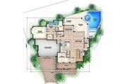 Colonial Style House Plan - 4 Beds 4.5 Baths 4902 Sq/Ft Plan #27-459 Floor Plan - Main Floor Plan