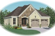 Traditional Style House Plan - 3 Beds 2 Baths 1411 Sq/Ft Plan #81-13664 Exterior - Front Elevation
