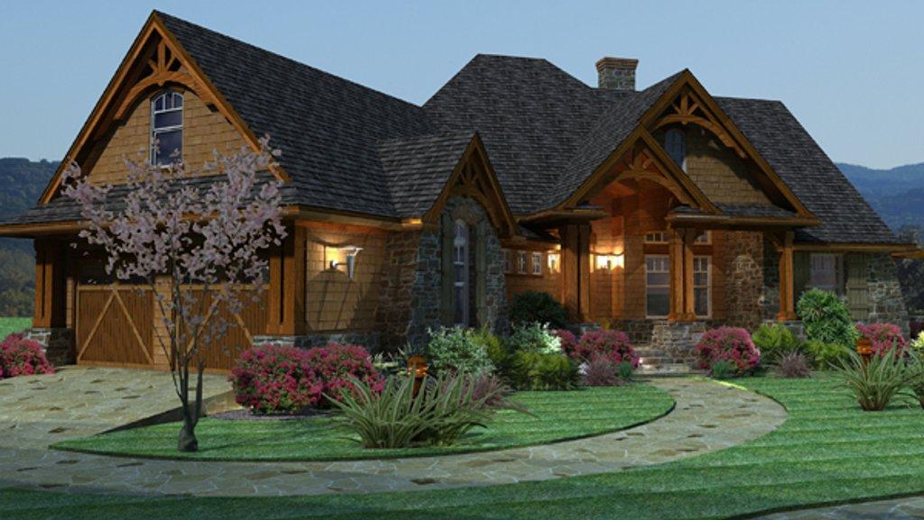 Craftsman Style House Plan - 3 Beds 2.5 Baths 2091 Sq/Ft Plan #120 ...