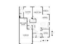Craftsman Floor Plan - Main Floor Plan Plan #48-551