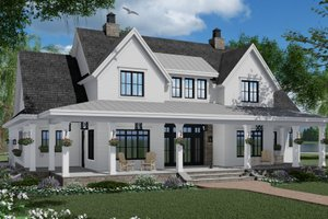 Dream House Plan - Farmhouse Exterior - Front Elevation Plan #51-1150