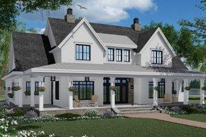 Dream House Plan - Farmhouse Exterior - Front Elevation Plan #51-1150