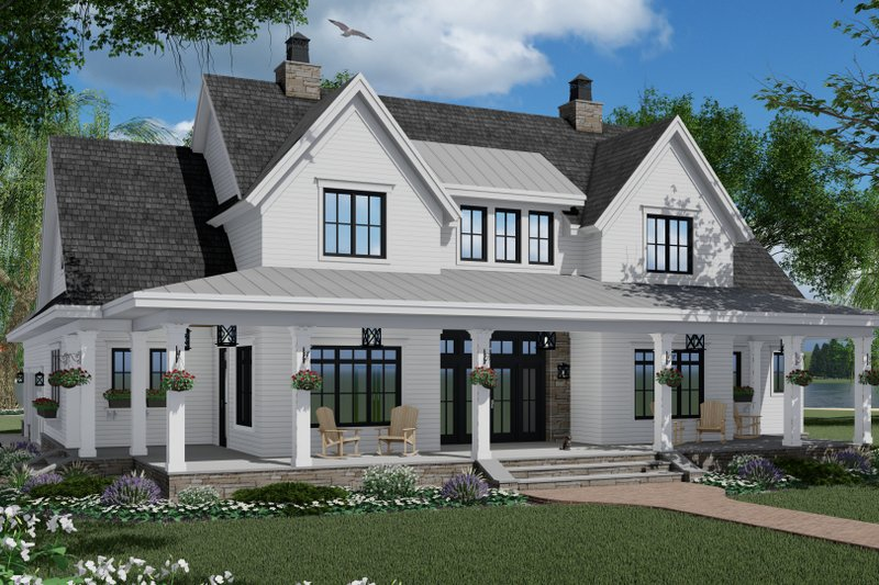Architectural House Design - Farmhouse Exterior - Front Elevation Plan #51-1150