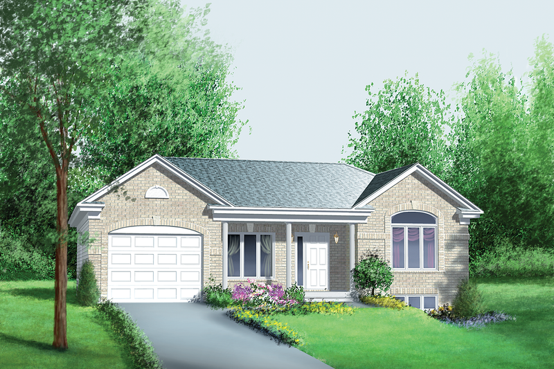 Classical Style House Plan - 3 Beds 1 Baths 1113 Sq/Ft Plan #25-4428 Exterior - Front Elevation