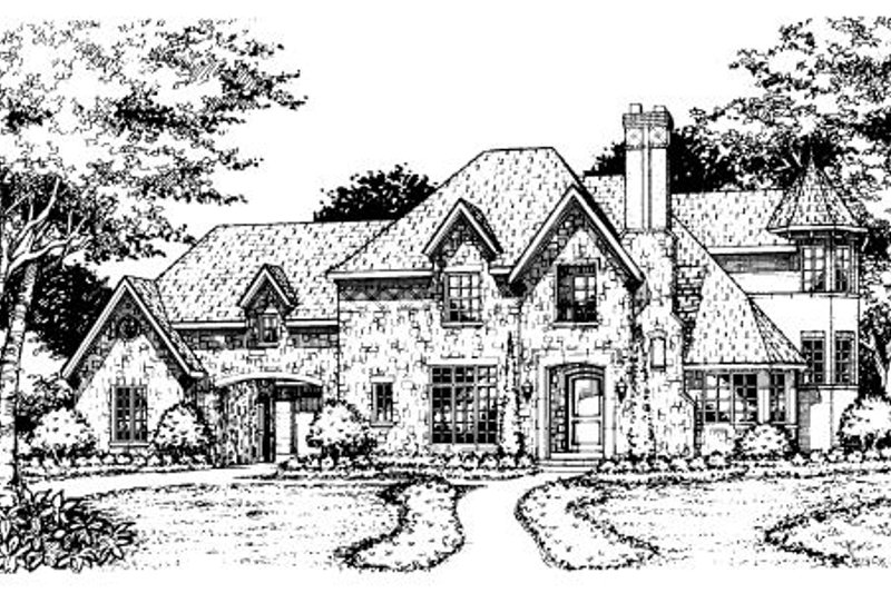 European Style House Plan - 5 Beds 5.5 Baths 5080 Sq/Ft Plan #141-293