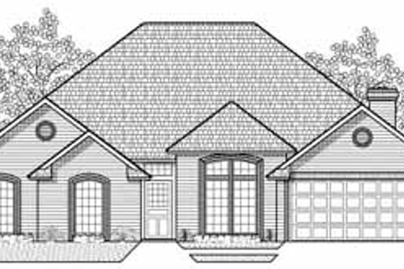 Traditional Style House Plan - 4 Beds 3 Baths 2317 Sq/Ft Plan #65-109 Exterior - Front Elevation