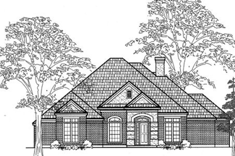 European Exterior - Front Elevation Plan #61-104
